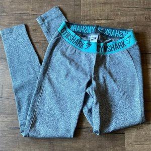 Gymshark Charcoal Marl Teal Flex Legging
